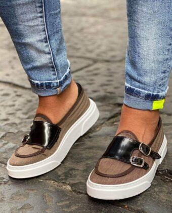 Scarpe mocassino doppia fibia