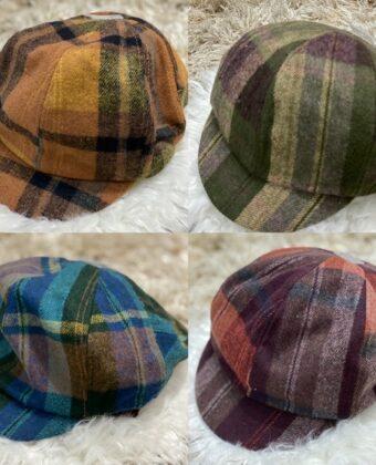 Coppola bombetta uomo donna scozzese cappello Ddsmile lana