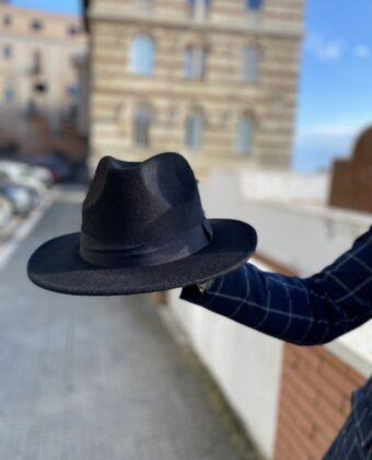 Cappello nero stile Ddsmile tg unica moda uomo donna