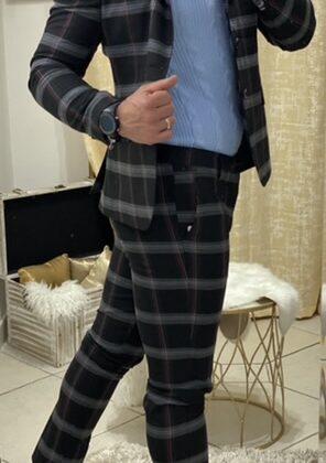Abito scozzese giacca e pantalone uomo sartoriale Ddsmile
