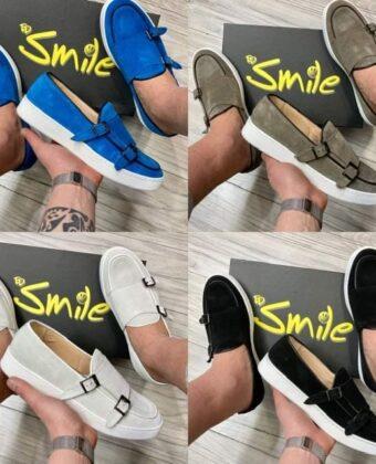 Sneackers uomo modello mocassino con fibia vari colori scarpe limited Ddsmile