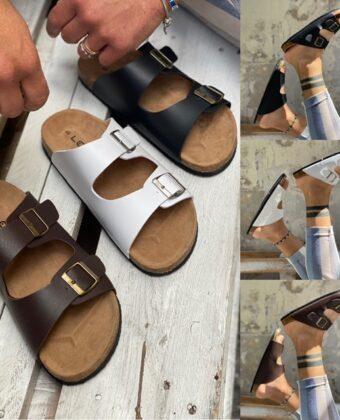 Saldali uomo bianco nero o marrone scarpe limite mare in